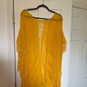 Mustard yellow swimsuits coverup